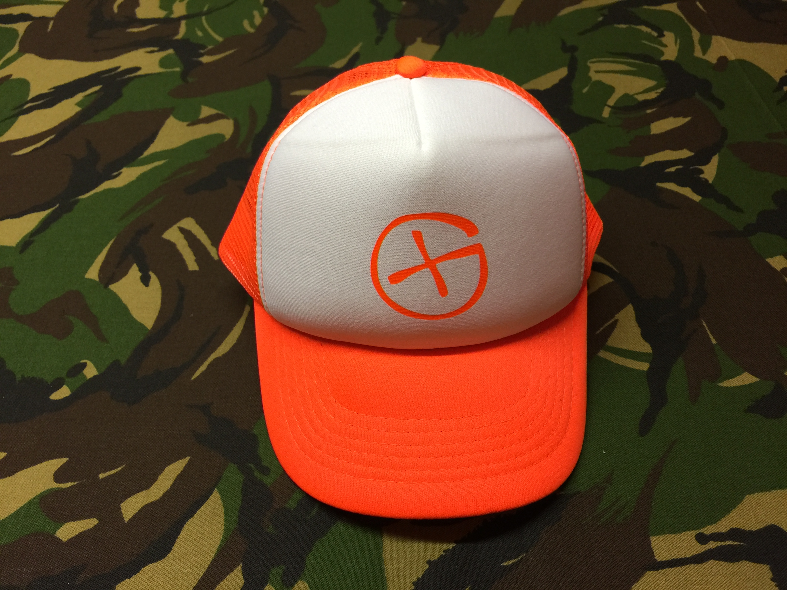 Trucker Cap<br>orange<br>Opencaching Logo<br>neon-orange