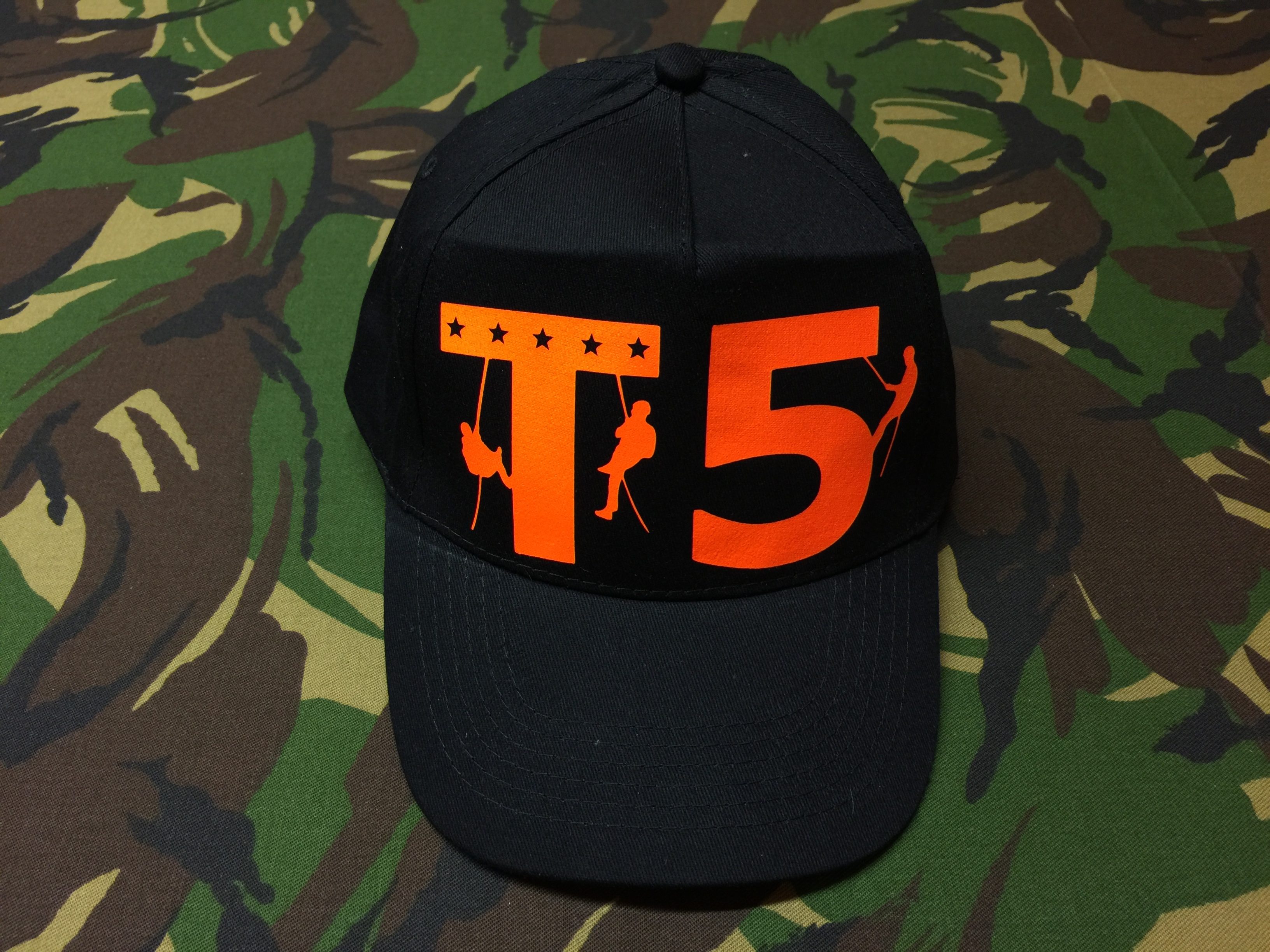Cap Start Five<br>schwarz<br>T5<br>neon-orange