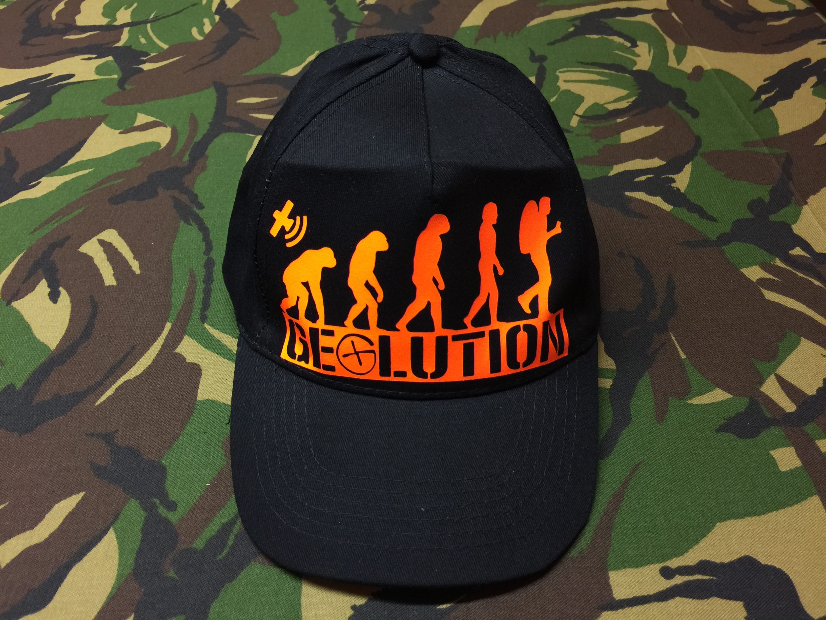 Cap Start Five<br>schwarz<br>GEOLUTION<br>neon-orange