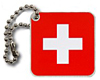 Switzerland Flag<br> Travel Tag